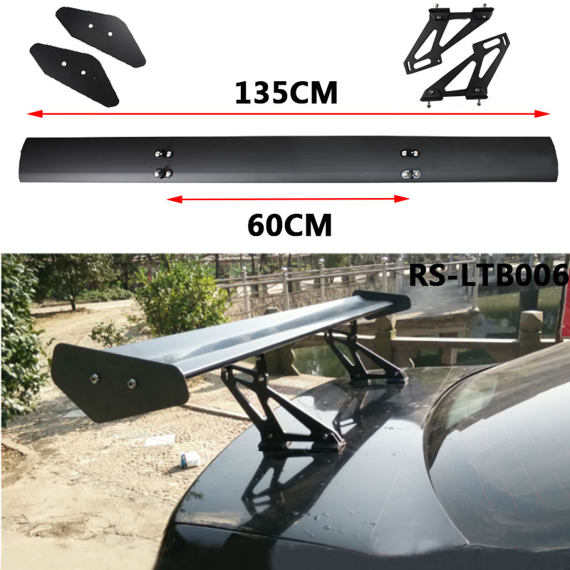 Rastp universal 135cm lightweight aluminum car spoiler gt for Wing motors automobiles miami fl