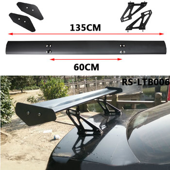 Universal 135cm Lightweight Aluminum Car Spoiler Wing Small Model GT Carbon Fiber Without Perforation Tail Decoration RS-LTB006