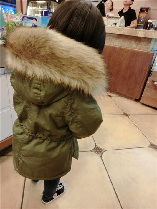 fd769f151 ... New Boys And Girls Winter Jacket Thickness Army green Parka Coat  Doudoune Enfant Boys Jacket 6WBT008 ...
