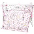 i-baby Baby Bedding - Pink Little dancing princess 3PCS Printed Crib Bedding