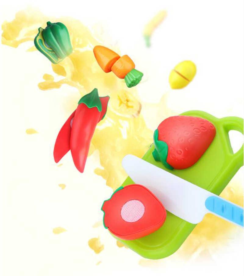 2019 novo fingir jogar plástico brinquedo de alimentos corte frutas vegetais alimentos fingir jogar crianças para crianças frete grátis gyh