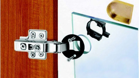 Probrico 1 pcs self closing furniture glass cabinet door hinge probrico 1 pcs self closing furniture glass cabinet door hinge concealed hidden ch101ha full overlay flush cupboard hinge in cabinet hinges from home planetlyrics Choice Image