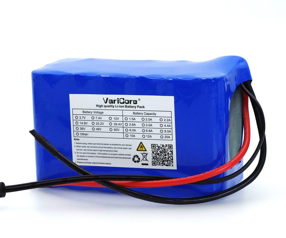 Varicore 24ボルト6ああ7S3P 18650バッテリー29.4ボルト6000 mah電動自転車原付/電気/liイオンバッテリーパック+ 29.4ボルト2a充電器  グループ上の 家電製品 からの バッテリーパック の中 2