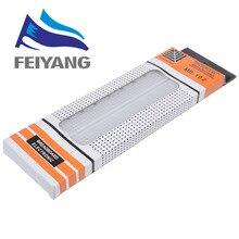 Breadboard tablero de pan PCB sin soldadura, 830 puntos, MB 102, MB102, prueba de desarrollo DIY, Blanco/transparente con embalaje, 10 Uds.