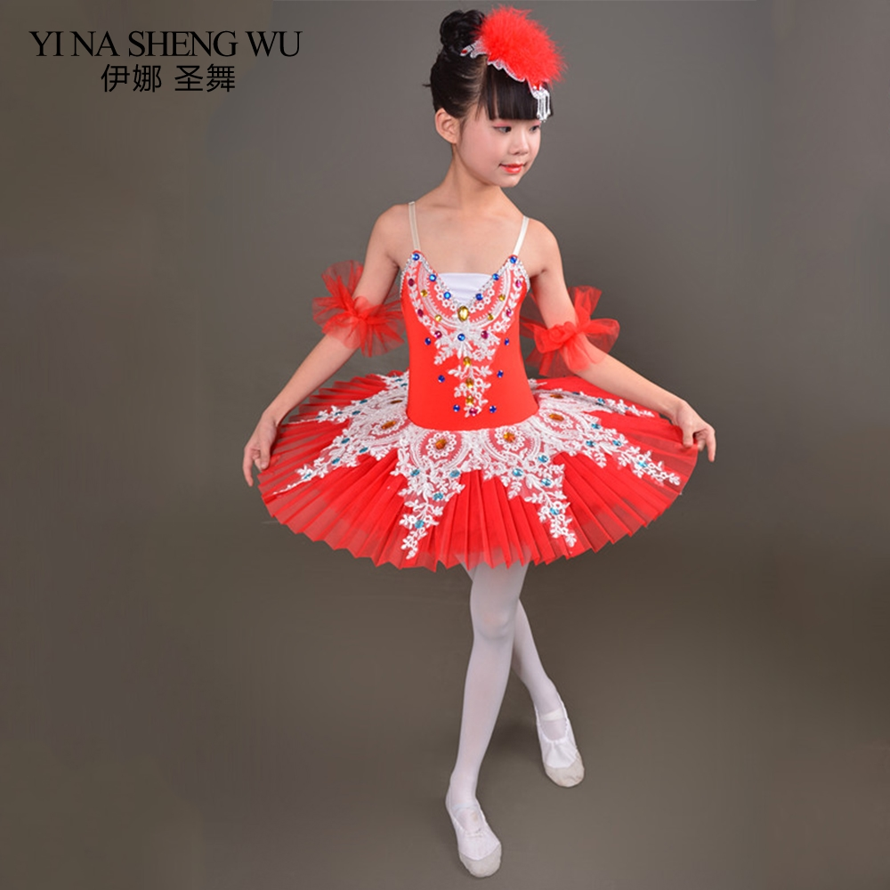 Tutu Ballet danse robe enfant professionnel cygne Ballet Tutu Costume pour enfants ballerine robe Ballet fille Dancewear Tutu jupe