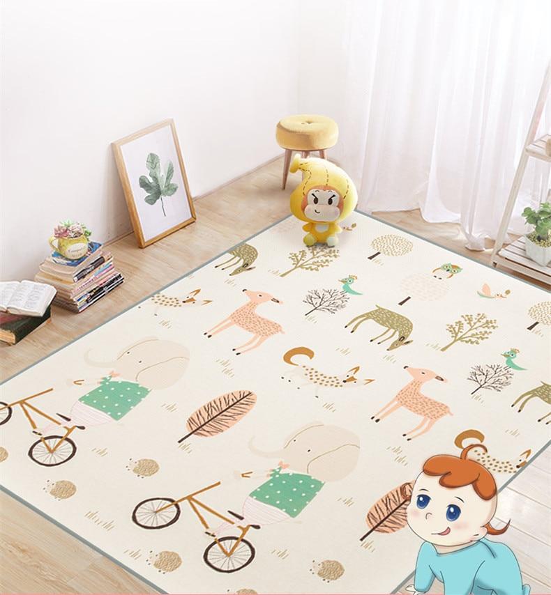 Nouveau XPE bébé ramper tapis 180*150 cm d'épaisseur 2 CM bébé enfants mousse tapis de jeu Protection de l'environnement personnalisé réel de haute qualité
