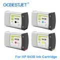 [Marca de terceros] para HP 843 843B cartucho de tinta de repuesto para HP PageWide XL 4000 4500 5000 5100 (4 colores disponibles)
