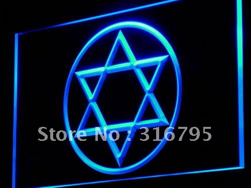 i926 Star of David Jewish Grace Home Decor Light Sign On/Off Swtich 20+ Colors 5 Sizes