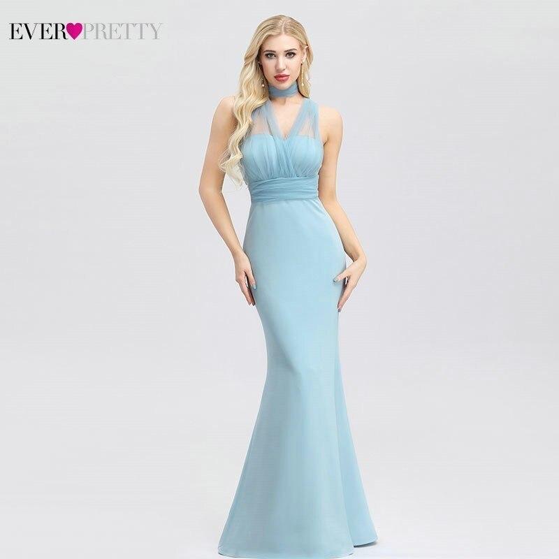 Elegant Blue Evening Dresses Ever Pretty Sweetheart Floor-Length Formal Dresses Sexy Party Gowns Vestidos De Fiesta De Noche