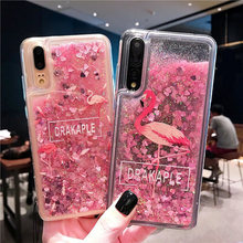 For Huawei P8 P9 Lite 2017 P10 P20 Quicksand Liquid Glitter Case For Mate 20 Pro P Smart Plus Nova 3 i Soft Cover Honor 8 X 9 10