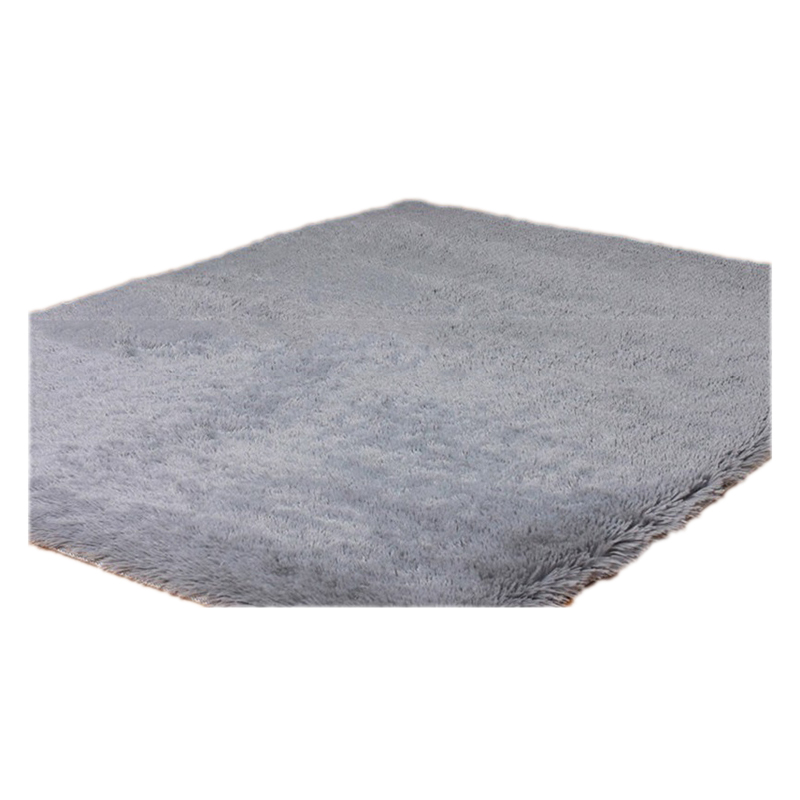Home Rugs Living Bedroom Plush Rugs Silver gray 40*40cm