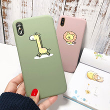 Soft TPU Cute Case For iPhone X XS XR Xs 8 7 Plus Cases Animal Lion Giraffe Cover 6 6S Plain