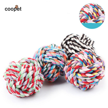 COOPET New Design Pets Rope Ball Dog Toys Bite Ball Dog Wool Ball Pet Toy Molar Teeth Will Not Fade Puppy Chew Toys Large Dogs