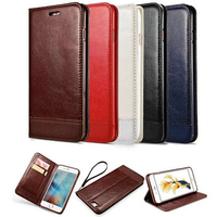 Leather Cases For IPhone 7 Plus 6 6S Plus 5 5S SE Wallet Flip Cover Case