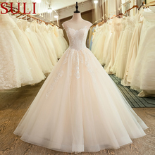 SuLi SL-6041 Cap Sleeve Illusion Neck Bridal Wedding Dress