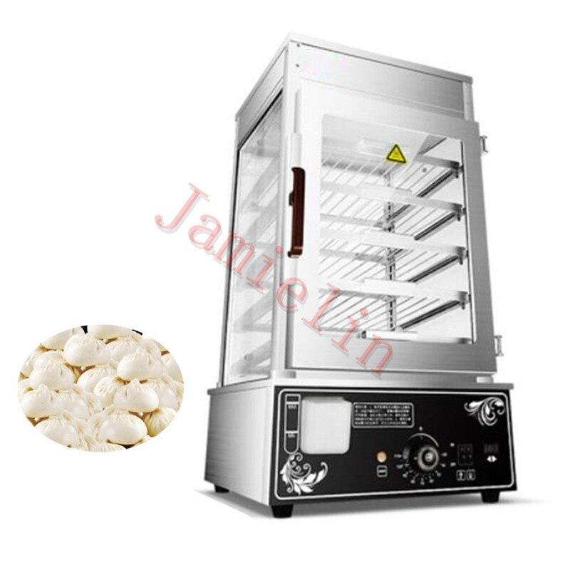 JamieLin Commercial stainless steel Electric Bun Steamer Bread Food Warmer Cabinet Stuffed Bun Steam Machine - 3