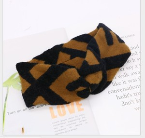Image 2 - ผู้หญิงJacquard Wool BlendถักElastic HeadbandsผมBand