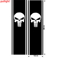 2X Fashion Car Styling Truck Side Stripes Skull Flags Graphics Car Decals Vinyl Stickers