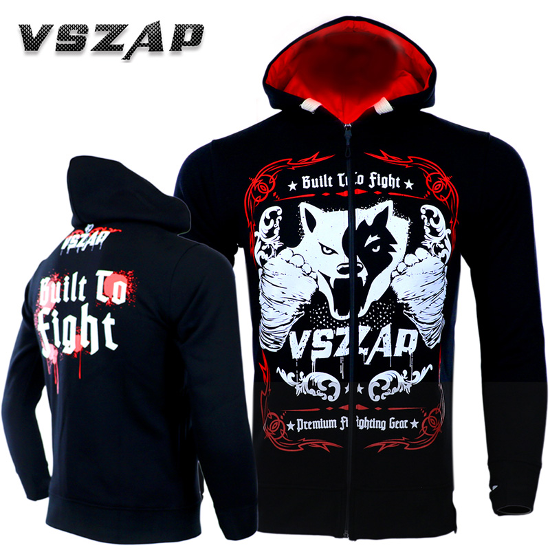 VSZAP MMA Wolf Animal Sports Jersey Fight Casual Sweatshirts Boxing Muay Thai Tights