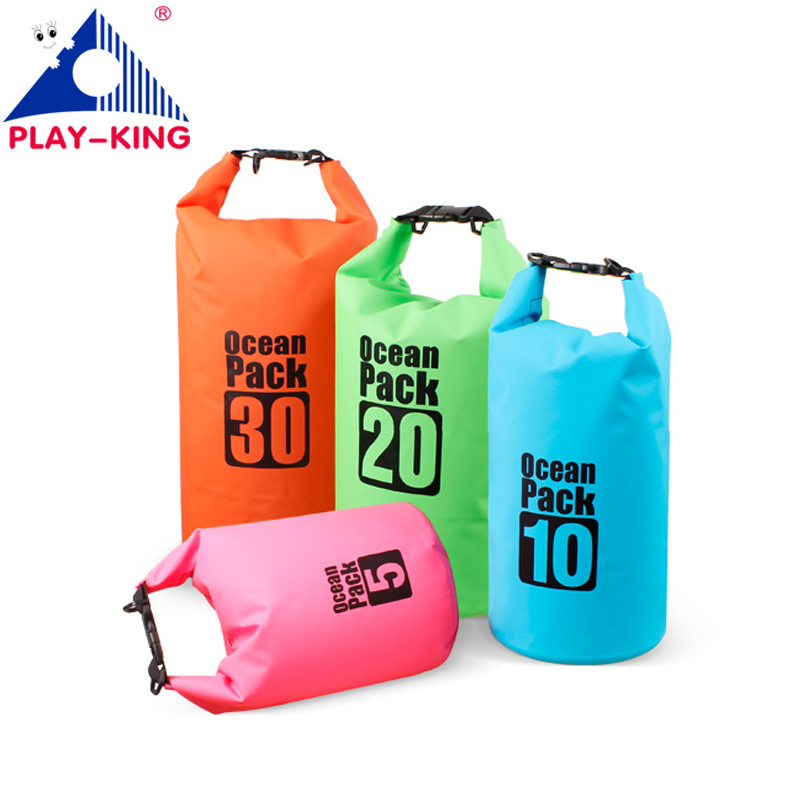 PVC 5L 10L 20L Outdoor Diving Compression Storage Waterproof Bag Dry Bag For Man Women Swimming Rafting Kayak 3