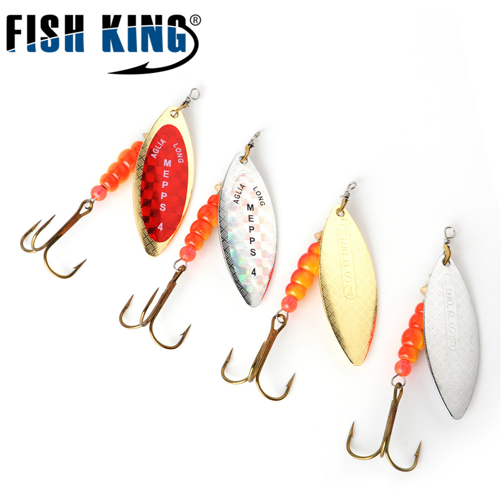 Fishing Lures Set Metal Hard Spoon Bait Mepps Long Cast 5pcs//lot Spinner Tackle