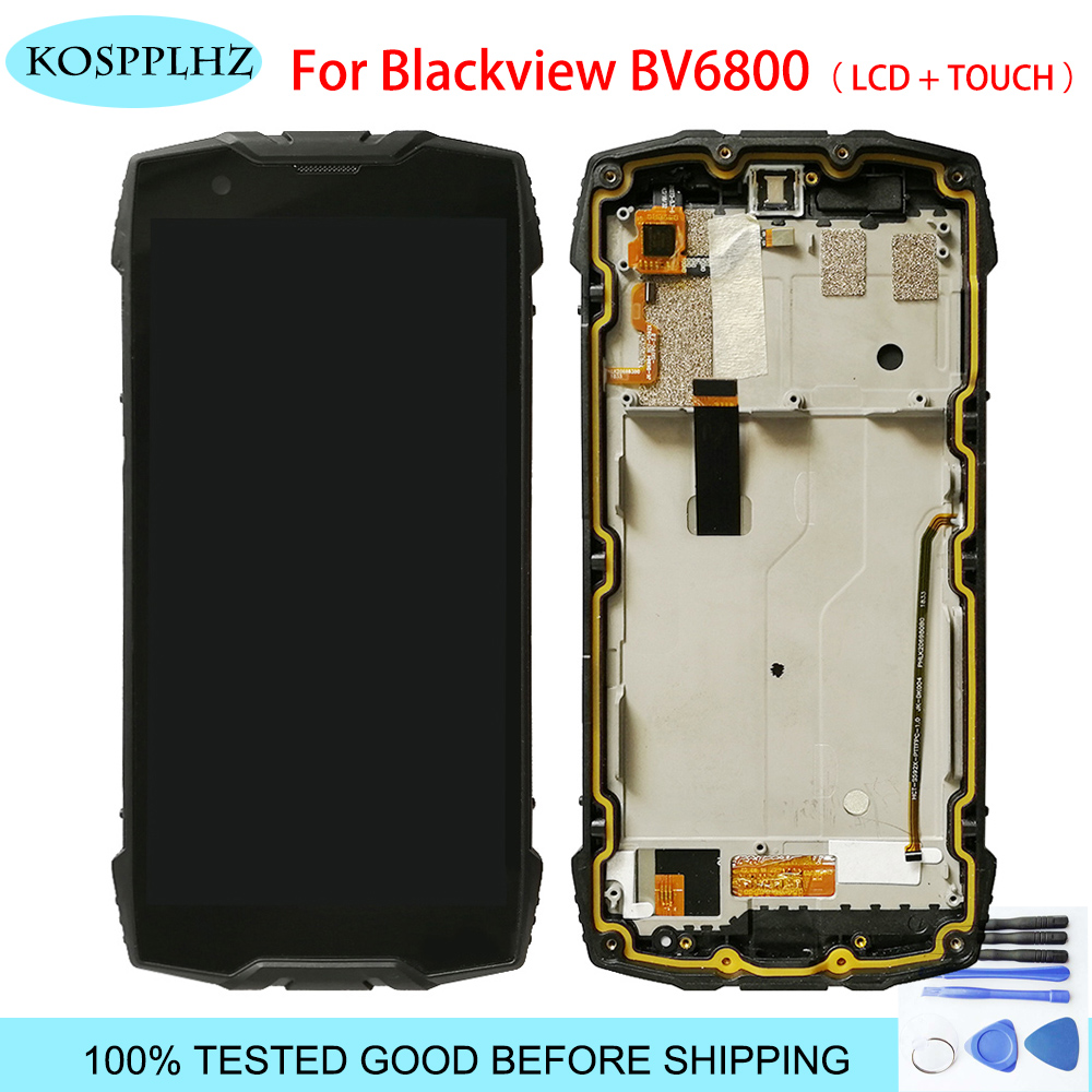 For BLACKVIEW BV6800 PRO LCD Display+100% New Digitizer Screen Glass Panel Touch Screen Assembly with frame 5.7 inch + Tools