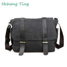 Männer Messenger Bags Große Leinwand Crossbody Taschen Schule Umhängetaschen 14 Zoll Laptop Taschen Reise Bolsa Feminina