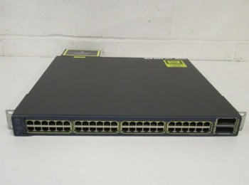 WS-C3560E-48PD-SF 48-port POE power supply Layer 3 switch supports 10G