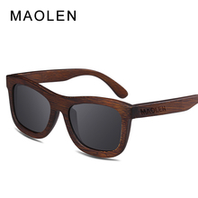 MAOLEN Bamboo Sunglasses Women 2017 fashion Polarized Sunglass popular New design Wooden Sun Glasses UV400 free shipping Eyewear
