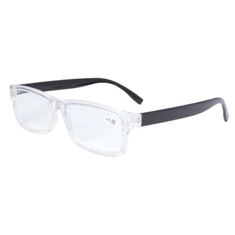 ᐊFR003 Black/Clear Fashion Quality Plastic Frame Reading Glasses ...