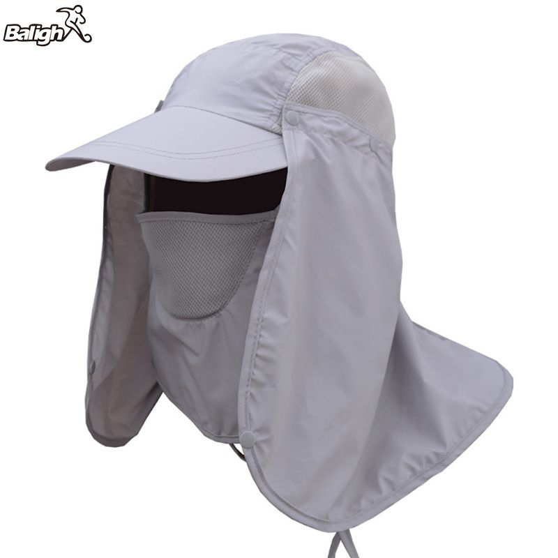 Balight outdoor sport hiking camping visor hat uv for Fishing neck cover