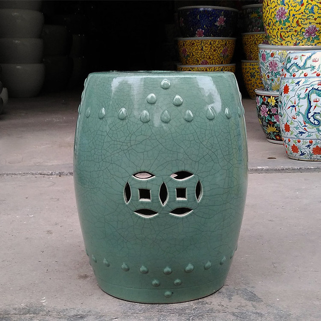 Merveilleux Green Crack Jingdezhen Porcelain Garden Stool Ceramic Stool For Dressing  Table Drum Chinese Porcelain Chinese Garden