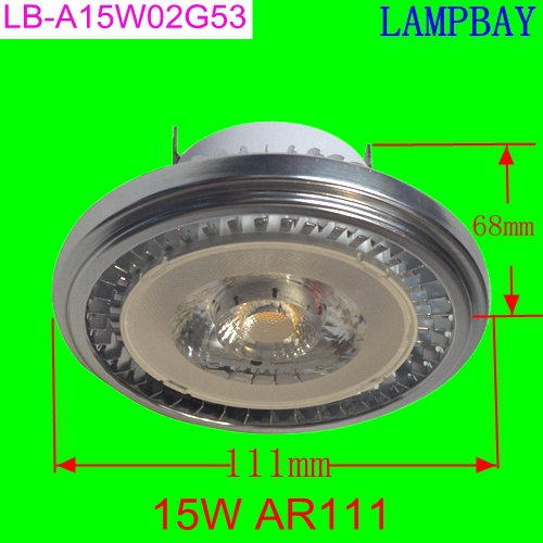 10 Pack Free shipping LED AR111 15W G53 with extra driver 85 265V high lumens
