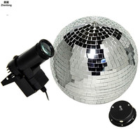 LED Stage Spotlight Glass Ball Laser Light 360 Degree Rotation Lantern KTV Bar DJ Party Xmas Flash AC 85 265V Spotlights Led