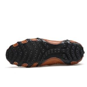 Image 5 - Mode Britischen Stil Männer Casual Schuhe Loafers Echtes Leder Männer Schuhe Outdoor Leder Schuhe Männer winter schuhe zapatos hombre