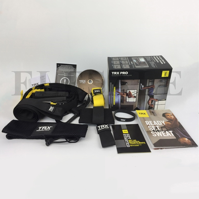 TRX P4 Pro Trainer Bands Sport Belts Training Fitness Resistance Straps For Gym Workout Body Weight With LOGO And BOX