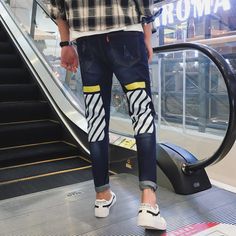 B13B Summer Thin Cool Men Jeans Large Size Baggy Blue Trousers Cotton Casual Male High Waist Washed Denim Pants