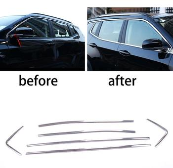 Stainless steel Exterior Window Sill Lid Trims car accessories for jeep compass 2017 2018 Car Styling