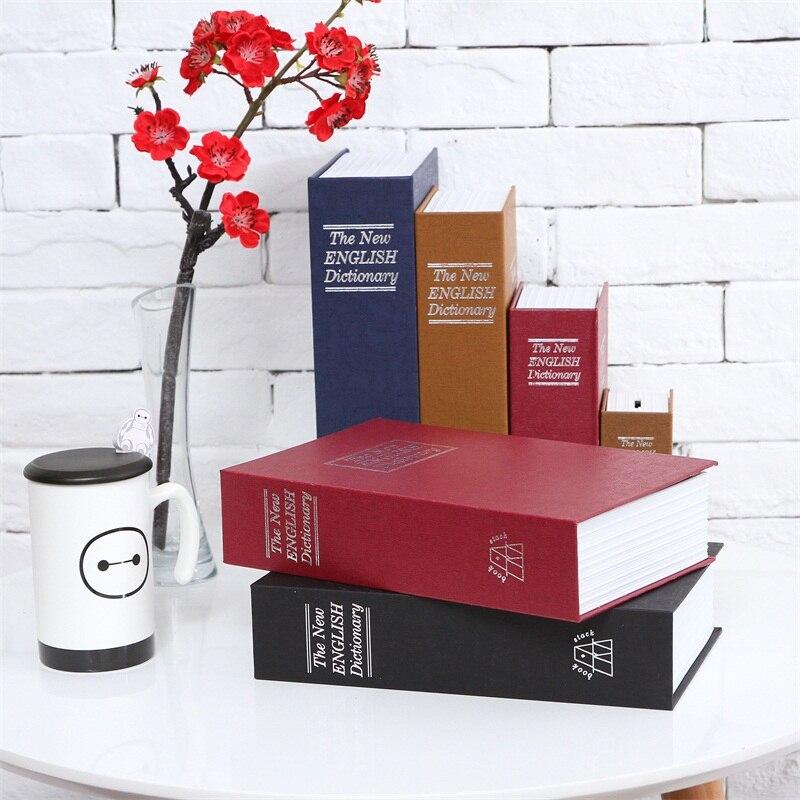 bilder für Größe M 4/Farbe Versteckte Box Sicherheitsschloss Schlüssel Englisch Wörterbuch Schloss Strongbox Stahl Simulation Buch 240*155*55mm