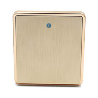 Free Distribution Of High Quality New Style Wall Switch Socket Manufacturers Luxury Large Plate Drawing Gold