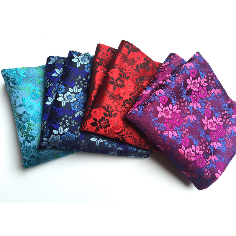 High Quality 25*25 Cm Man Flower Hanky Paisley Pocket Square Handkerchief Men's Suit  Handkerchief Wedding Party Pocket Square