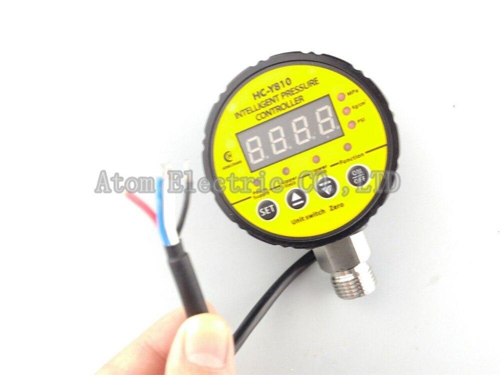 380V AC Hydraulic Air Compressor Digital Pressure Switch 0-40Mpa M20 x 1.5 13mm male thread pressure relief valve for air compressor