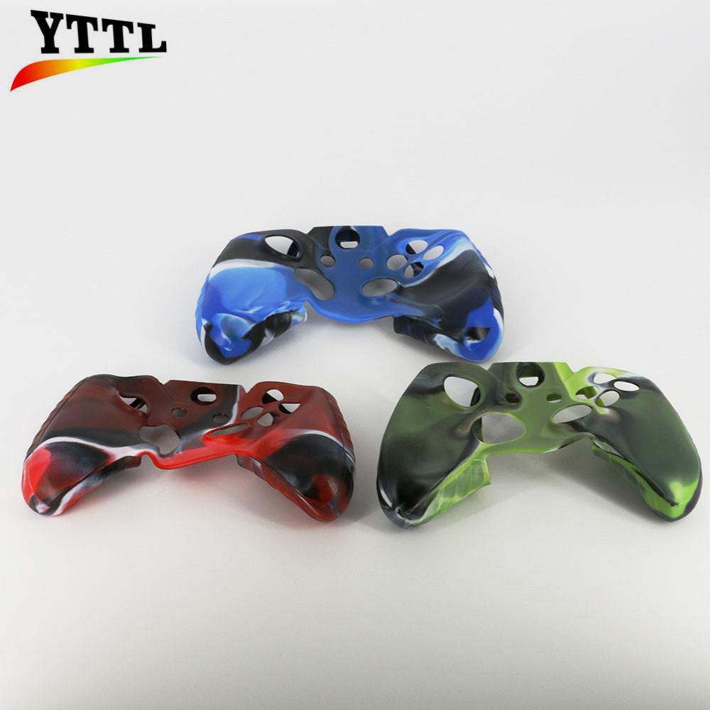 YTTL Soft Silicone Colored drawing Protective Skin Case Cover with 2pcs Thumbsticks Caps for