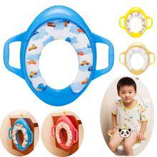 Bébé formation de toilette doux coussin de siège siège d'enfant avec poignées bébé sièges de toilette Piédestal Pan LIVRAISON GRATUITE en gros