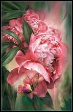 蝶花のカウントクロスステッチキット DIY ハンドメイド刺繍刺繍 14 ct クロスステッチセット DMC 色