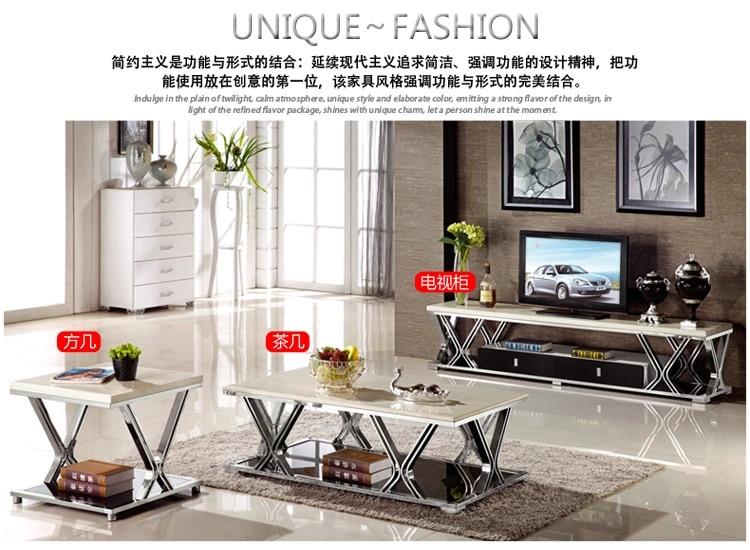 meuble tv en acier inoxydable dore table basse en marbre support de moniteur led table d angle meuble tv salon moderne mesa