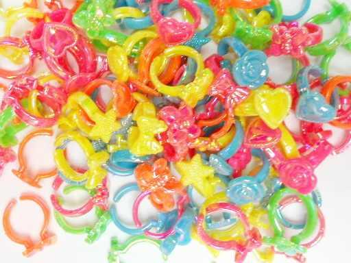 12X Пластиковые Детские Кольца для девочек торговый торт сумка с украшением Pinata наполнитель Новинка-сувениры для вечеринки ко дню рождения подарок игрушка приз