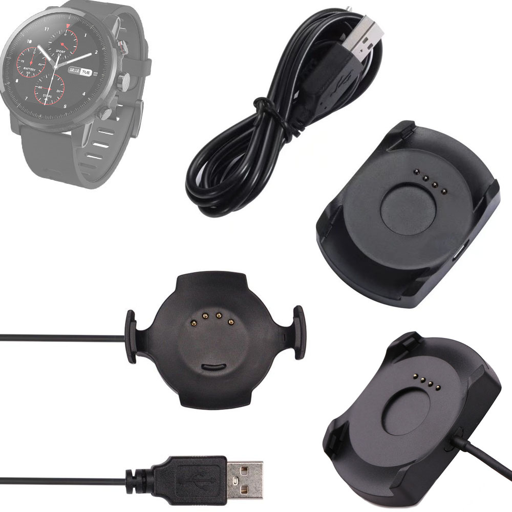 USB cargador rápido carga de carga Smart Watch Cradle + cable Micro usb o con cable para Xiaomi Huami Amazfit PACE O 2 deporte