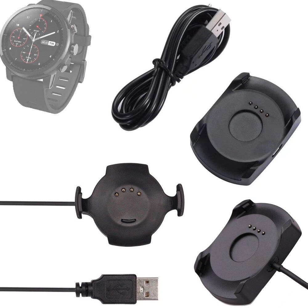 USB cargador rápido carga de carga Smart Watch Cradle + cable Micro usb o con cable para Xiaomi Huami Amazfit 1 O 2 deporte