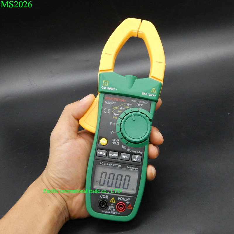 MASTECH MS2026 Digital Current Clamp Meter  Auto Range AC/DC Multimeter Ammeter Voltmeter Ohmmeter  Capacitance & Frequency Test  цены